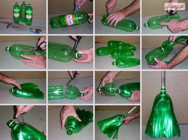 Plastic Broom Bottle Into