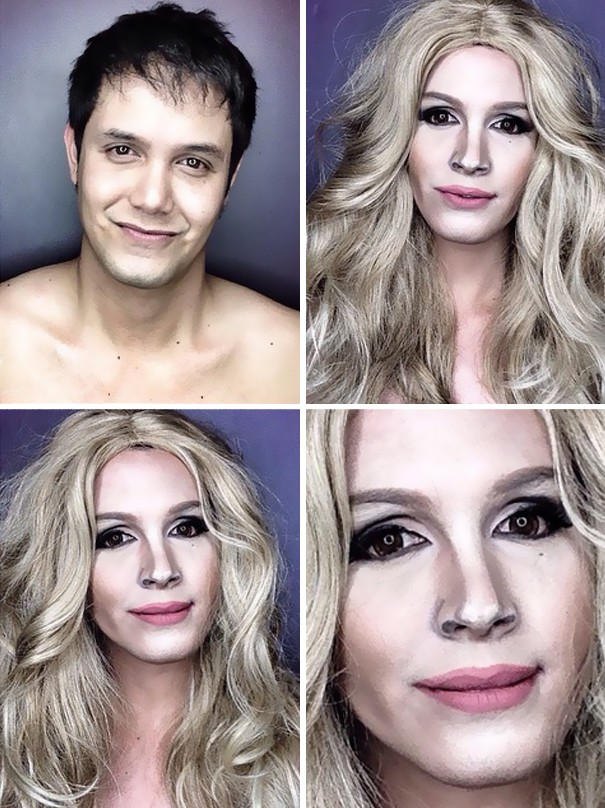 Ten Chłopak Przy Pomocy Makijażu Przemienia Się W Gwiazdy Hollywood