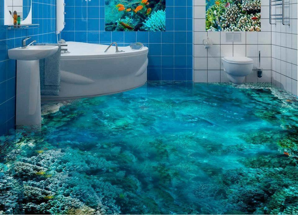 Podłoga do łazienki 3d