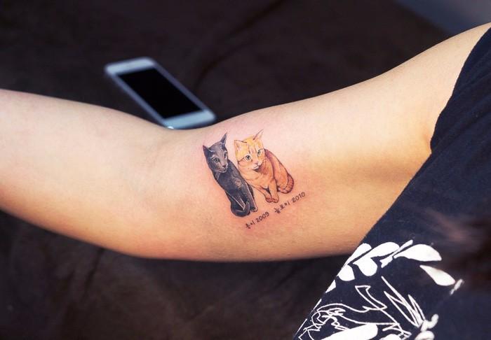 Tatuaże Z Wizerunkiem Własnego Kota To Coraz Popularniejszy