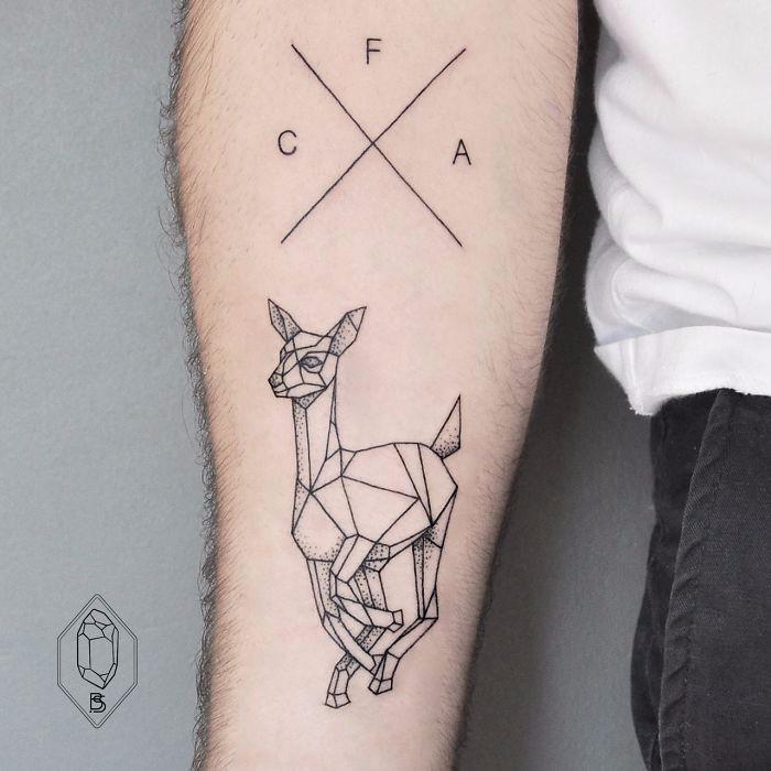 30 Minimalistycznych Geometrycznych Tatuaży Które Są