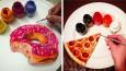 Hiperrealistyczne rysunki jedzenia, wykonane na... talerzu.