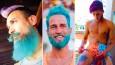 Najnowszy trend wśród mężczyzn: barwna tęcza na głowie.
