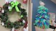Kreatywne świąteczne dekoracje, które skutecznie uczynią szpital przyjemniejszym miejscem.