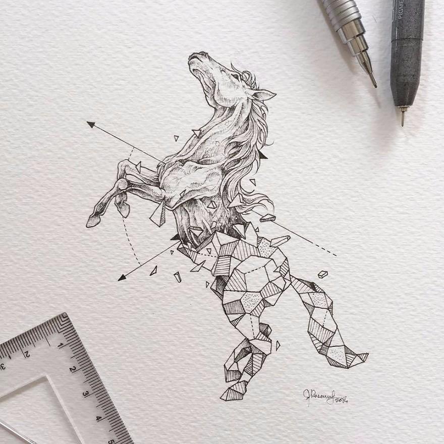 Flower Head Line Drawing : Uzdolniony grafik z filipin tworzy niesamowite rysunki