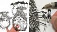 Japoński artysta tworzy ekstremalnie precyzyjne wycinanki z papieru.