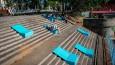 Architekci z Wrocławia przemienili betonowe schody w atrakcyjne miejsce spotkań i wypoczynku.