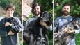 Kochający właściciel psa zrekonstruował wspólne zdjęcie z młodości ku pamięci swojego pupila.