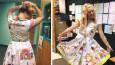 Nauczycielka szkoły podstawowej z Oklahomy pozwoliła uczniom ozdobić swoją sukienkę rysunkami.