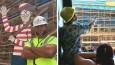 Gdzie jest Wally? – pomysłowa zabawa dla dzieci w wykonaniu amerykańskiego budowniczego.