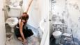 Dziewczyna zamieniła swoją nudną łazienkę w magiczne miejsce! Efekt jest niesamowity!
