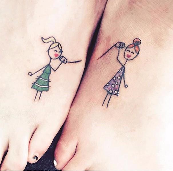 40 Genialnych Pomysłów Na Tatuaże Dla Przyjaciół
