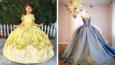 Ten tata szyje swoim córkom sukienki zainspirowane księżniczkami Disneya!