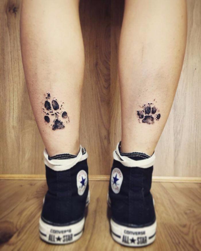 Odcisk Psiej łapy Oryginalny Pomysł Na Tatuaż Dla